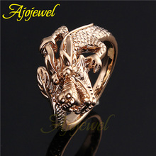 Size 7-9 New Animal Jewelry Vintage 18K Rose Gold Plated Dragon Ring