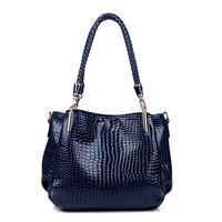 Hot high quality luxury leather handbags genuine crocodile pattern picture package