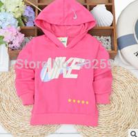 2014 autumn 100% cotton baby boys girls long-sleeved hooded sweater hoodie hedging Korean T shirt kids Hoodies,Sweatshirts