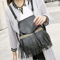FREE SHIPPING New tassel women bag shoulder bag PU traveling bags student backpack female college wind shoulders backpack