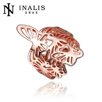 Free shipping hot sale R276 High Quality Nickle Free   Jewelry 18K Real  gold plated ring For Women