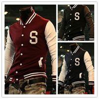 2014 New Fashion Unisex American Style Varsity Letterman University College Baseball Jackets Autumn Coat Sports Outwear Cardigan