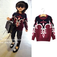 Fashion brand girl sweater 2014 spring winter autumn outfit new Korean version of casual girls sweater coat jacket 2-7 years