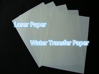 (20 sheets) Freeshipping A4 Transparent Printing Paper Laser Water Slide Decal Paper Water Transfer Paper For Leather