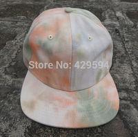 New Arrival  tie dye canvas polo hat 6 panel strapback cap warm winter hat hip hop baseball cap custom headwear snapback cap