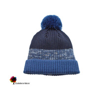 New Children Hats Spring Autumn Winter Boys Contrast Color with Pompom Qulity Knitted Brand Baby Hats Head Cap