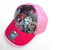 NEW THE Monsters High hat boy girls Kids elves cap  fashion summer cap visor sun hat kids baseball cap children accessories