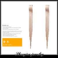 Fashion gold silver earrings for women ear jewelry accessories as gift to girl ear cuff brand drop earring long earrings