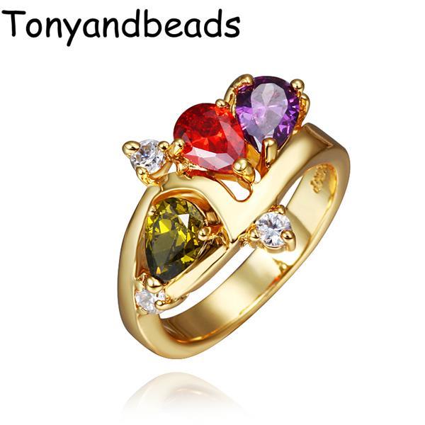 Кольцо Tonyandbeads R430 QualityNickle AntiallergicNew 18 k PlatedRing r430 215rbcaka11f