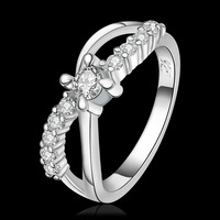 Promotion price!Fashion 925 Sterling silver Luxury Noble crystal  finger ring,wholesale R460