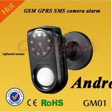 Auto calling SMS GPRS camera home security quad band GSM alarm with infrared sensor Android ios