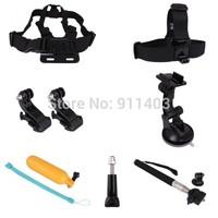 Andoer 7 in 1 Accessories Set Kit Chest / Head Strap Monopod Mount Kit for Gopro Hero 1 2 3 3+