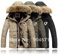 Bosennan Brand Down Jacket Men Winter Warm Coat Real Raccoon Fur Detachable Hooded 90% White Duck Down Wind Proof fit -40 Degree