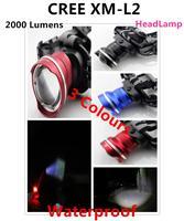 Brand New 1PC NEW Design Headlight CREE XML XM-L2 LED 2000 Lumens 3 Mode Waterproof Zoom Focus Front Light LED HeadLamp super T6