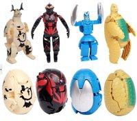 4 Style/Lot 2013 New Deformed Egg Ultraman Transformation Robot Novelty Educational Robot Toy Ultraman Monster Toy
