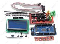 RAMPS 1.4   Mega 2560 R3   5pcs A4988 stepstick   12864 LCD Controller For 3D Printer Kit  Arduino