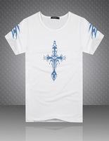 new trend of men's fashion cotton t-shirt printing short-sleeved t-shirt men's t-shirt