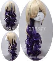new Harajuku beige gradient oblique bangs wig
