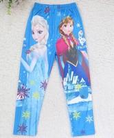 New girls Cartoon Frozen pants kids lovely princess legging children's autumn frozen legging in stock wholesale 4pcs/lot