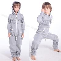 New Sports Child Kids Children Print Jump Suit for boy & girl Zip Pullover Hoodies Overalls Outwear Onesies Jumpsuit One Piece