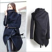 2014 Autumn Winter Woolen Coat Womens Overcoat Temperament Slim Trench Desigual femininos Wool & Blends Free Shipping S-XXL