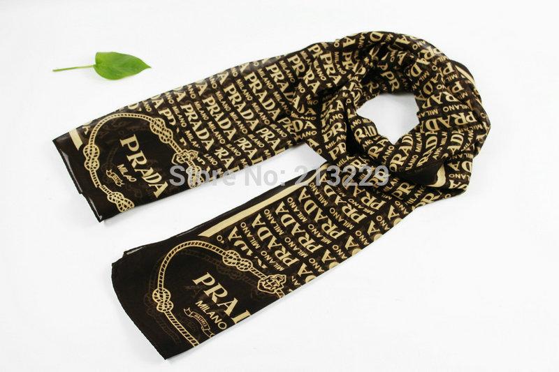 The new lady warm ultra long silk scarf female amphibious fashion scarf shawl letters(China (Mainland))