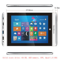 Solid state drive: 64 GB, 4 GB of memory, CPU, 1.6 GHz -8 inch genuine win8.1
