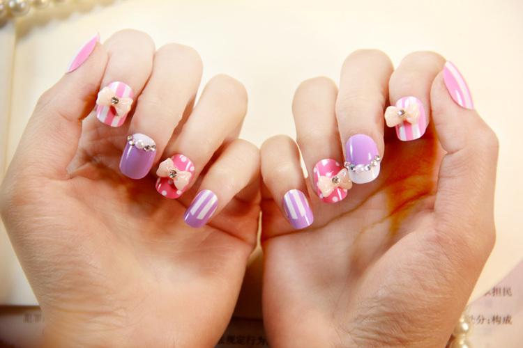 2014 Top Fashion Real Unhas Posticas Autocolantes Nail Display Sex Products Super Good Quality Japanese Cute Fake Nails Short(China (Mainland))
