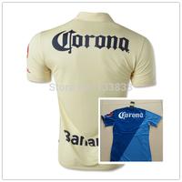 2015 Club de FutbolAmerica home YELLOW away BLUE best quality player version soccer football jersey shirt