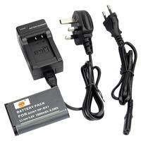 DSTE NP-BX1 Li-ion Battery and EU&UK Charger for Sony Cyber-shot DSC-RX1R, DSC-RX1R/B, DSC-HX300, DSC-RX1, DSC-RX100
