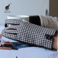 2013 new winter Korean elegant Houndstooth pattern lattice Ms. wind of autumn and winter wool cashmere gloves female
