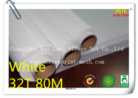 "Free Shipping 5 meters (5 yards)  White 32T 80mesh-120 width:127cm(50"")  Polyester Printing Mesh For Textile Printing"