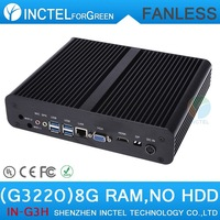 Mini PC Mini Computer Thin Client Fanless Intel Pentium Dual Core G3220 3.0Ghz CPU HDMI VGA DP Three display with 8G RAM Only