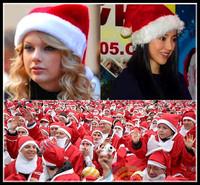 Christmas Hat Merry Christmas Decoration Ornaments 26*38cm Santa Claus Xmas Cloth Cap Christmas Hat Gift Present Free Shipping