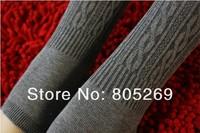 Dark gray Cable Knit Winter Women's Comfortable Warm Cotton Pants Stirrup Leggings