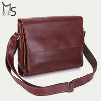 2015 New Men Bag High quality oil wax leather Men's messenger bag vintage bag for men Shoulder bags 100% Genuine leather