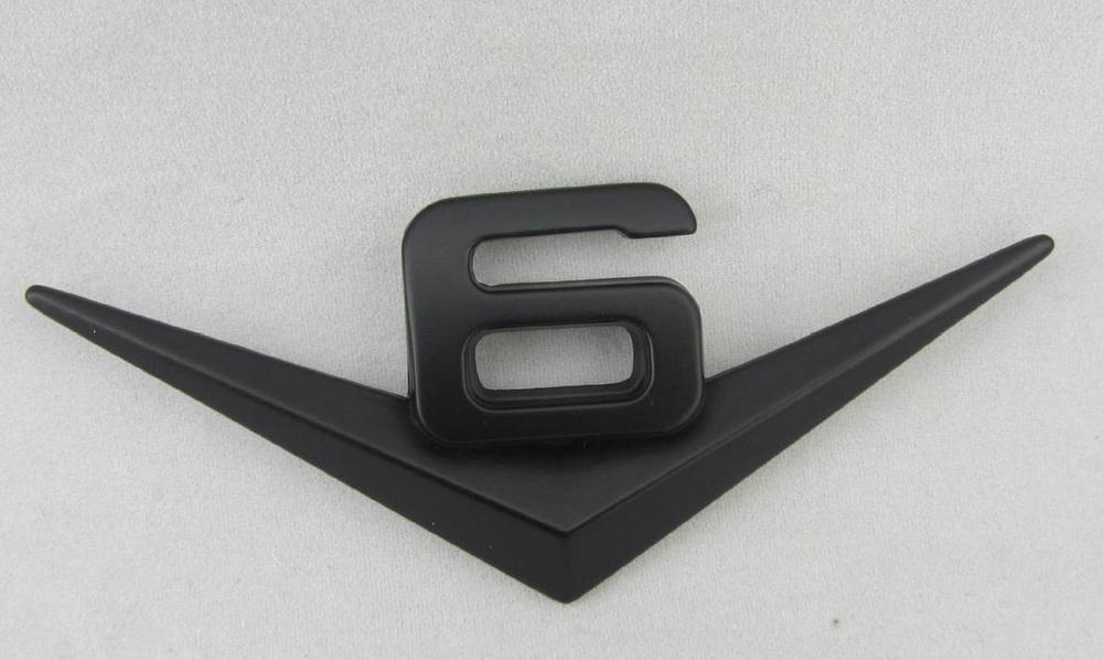 Car SUV Black V6 Metal Sticker for Jeep MUSTANG GT CS cobra shelby V6 Emblem Decal Badge(China (Mainland))
