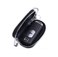 High Quality Genuine Leather Remote Control Car Keychain Key Cover Case Auto Accessories for  CX 5