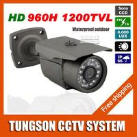 2014 Best Sony 960H Effio 1200TVL OSD Menu Bullet Security CCTV Camera Outdoor Waterproof Night Vision IR Video Surveillance