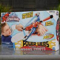 NERF SPIDERMAN POWER WEBS STRIKE CROSSBOW DART GUN TOY BLASTER
