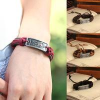 wholesale lot 12pcs vintage Jewelry leather Bracelets Brand Bracelets men's women's bracelet trendy new styles 2014 P0112
