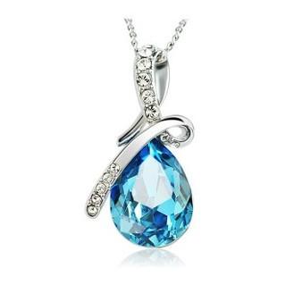 Hot Women Crystal Rhinestone Drop Chain Necklace Pendant For Women Jewelry Statement Bijouterie Accessories Gift
