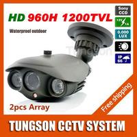 Best Sony 960H Effio 1200TVL OSD Menu Video Surveillance Outdoor Waterproof Night Vision Array infrared Security CCTV Camera