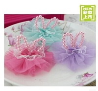 {Min.Order $15} 10pcs/Lot Net Fabric Rabbit Ear Semi-Part/ Accessories For Hair Accessories/Garment/Caps/Jewelry/Bags/Shoes DIY