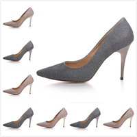 2014 Newest Women's Luxury Brand Slip On High Heel Satin Pointed Toe Pumps,Ladies Designer Wedding Party Rubber Sole Dress Shoes