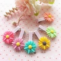 10pcs samll daisy barrettes hand-made jewelry