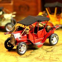Nostalgic iron props model classic cars home decoration