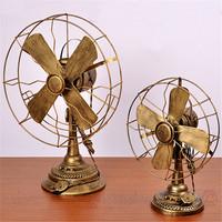 Exquisite craft vintage fan nostalgic model photography props decoration