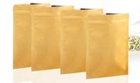 13x21cm, 50pcs/lot brown kraft paper bag aluminum foild inside flat bottom tea bag food packing bags free shipping