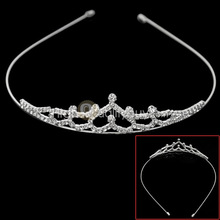 Vogue Bridal Wedding Shiny Rhinestone Crystal Crown Tiara Hair Band Headband